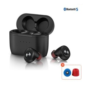Headphones & Earphones QCC010 TWS Bluetooth 5.0 Qualcomm AptX Wireless Earbuds Noise Cancellation With Microphones,77H Playtime1