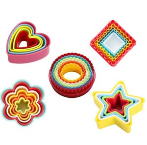 Resin Multi Color Mould Cookies Cake Baking Mold 5 6 Pcs Set Love Heart Plastic Biscuit Moulds Kitchen High Quality 1 3zp G2