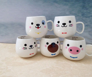 Creative ceramic cup animal cute Mug expression water cup can be customized logo cup. Lovers cup. Can be given away