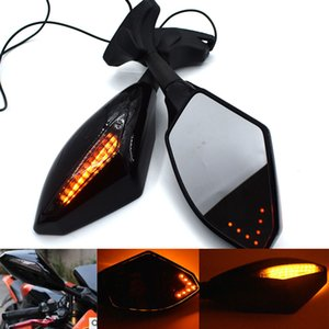 Universal Motorcycle Rear View Side Wing Mirrors w  LED Turn Signal Light For Honda CBR900RR 93-04 CBR929RR 00-01 CBR954RR 02-03