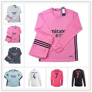20 21 Real Madrid Manga Longa Futebol Jerseys Lunin Hazard Valverde Rodrgo Camiseta 2020 2021 Vinicius Asensio Camisa de Futebol Equipamento