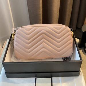 Высокое качество камеры Сумка Marmont натуральной кожи сумка женщин кошелек Золочение Письмо мешок плеча цепи Crossbody мешок повелительницы девушки бумажника Box