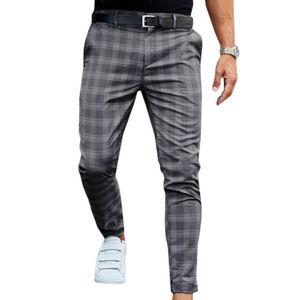 VICABO Мода Мужчины Новый 2020 Тонкий плед печати Повседневный Спортивные брюки мужские Street Casual Тонкий Брюки Брюки