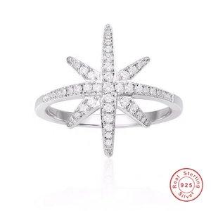 Victoria ins luxus schmuck 925 sterling silber pflastig weiß saphir cz diamant ewigity ring edelsteine partei frauen hochzeit stern ring geschenk
