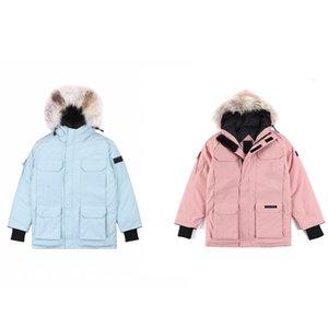 hiver de haute qualité vers le bas veste Parkman manteau grande véritable peau de loup à capuchon vent loisirs chaud mode et imperméable à l'eau