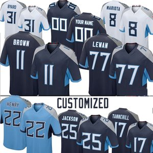 Steve McNair Brown Kevin Byard Eddie George Jurrell Casey Adoree 'Jackson 77 Taylor Lewan Anthony Firser Brett Kern Football Jerseys