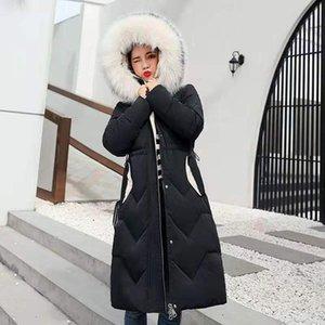 mulheres jaqueta de inverno novas 2020 mulheres coreanas casaco de comprimento médio jaqueta de algodão moda mais espessa parkas soltas mulher TYJTJY