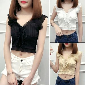 2020 New Hot Summer Autumn Bustier Female Sexy Bandage Sleeveless Crop Tank Top Zipper Woman Clothes White Black Top