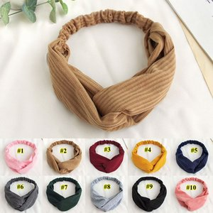 Sports Headband Cross Knot Elastic Hair Bands Button Yoga Headwrap Face Mask Holder Girls Hairband Bandanas Hair Accessories GWB2441