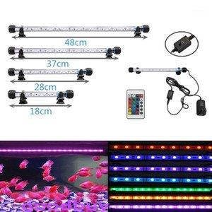 220 V AU Power Plug RGB Remote Aquarium Licht Aquarium Wasserdichte SMD LED Bar Licht Wasserlampe Taucher 18-48cm1