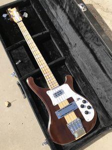 4003W Natural Walnut Bass 4 strings Bass WALNUT Body Vintage Ric 4003 Electric Bass Guitar Neck Thru Body