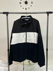 2020 printemps nouvelle veste hommes mode tendance tissu de coton lâche couleur coupe-vent a frappé coutures hommes M-L-XL et pour des femmes de même manteau