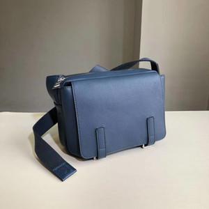 Designer Luxus-europäische amerikanische Art-Männer Flip Messenger Bag Lychee Muster Kuhfell Messenger Bag