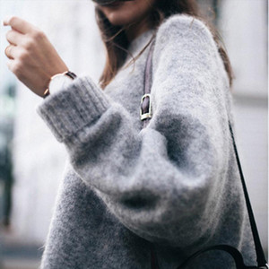 New Fashion Autumn Winter Women Sweater O Neck Women Pullover Long Sleeve Casual Loose Sweater Knitted Tops Hot Sale