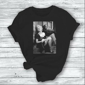 Tupac y Marilyn Monroe Harajuku t shirt mujeres Ullzang Vintage 90s Estética T Shirt Tshirt Top TEPTS TEES FEMENA
