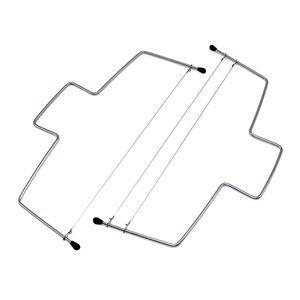 الفولاذ المقاوم للصدأ كعكة القاطع حادة واحدة مزدوجة خط مزدوج أدوات الخبز القطاعة المعمرة القطاعة اللوازم المطبخ 2 8JX4 F2