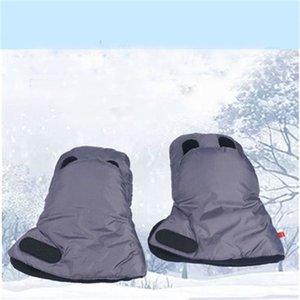 Kids Winter Warm Stroller Gloves Pushchair Hand Muff Waterproof Pram Accessory Mitten Baby By Clutch Cart Thick Fleece Gloves 201026
