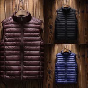 UkN6h Fashion vests Down jacket vest winter men mens Keep warm denim vest man stylist protection jacket warm and women thicken outdoor
