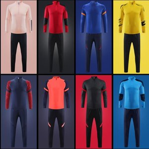 20-21 nova temporada espana brasil homens maillot de pé tracksuit adulto tracksuits sobrevetimento futebol chandal jogging treinamento kits kits equipa