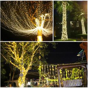 Schnurlichter Silber-Draht-Weihnachtsgirlanden Girlande-Fairy Light Weihnachtsdekorationen für Haus Zimmer Baum Weihnachtsdekoration GGB2340 geführt