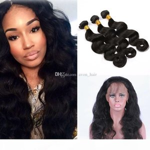 Body wave Human Hair Bundles With 360 Lace Band Frontal 22.5*4*2 Pre Plucked 360 Lace Band Frontal With Hair Extension