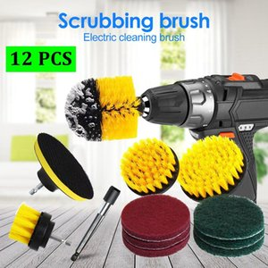 Tools 12 pcs set Power Scrubber Brush Drill Brush Clean for Bathroom Surfaces Tub Shower Tile Grout Cordless Power Scrub Cleaning Kit