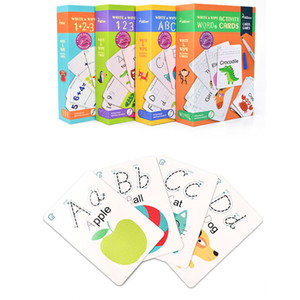 Early Education Flash Card game Alphanumeric Word Writing Cognitive Can Practice Handwriting Repeatedly Kids Educational Toys