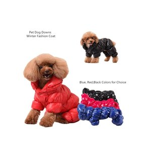 red winter pet poloneck turtleneck warm dog parka clothes small dogs down coat 4 legs jacket medium chihuahua xs blue black Vi6UE