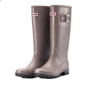 Vente chaude femmes cuisse élevé pour les femmes caoutchouc imperméables Rainboots dames bottes de pluie Botas mujer Invierno