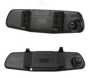 Full HD 1080P Car Dvr Camera Auto 4.3 Inch Rearview Mirror Digital Video Recorder Night Vision Dual Lens Registratory
