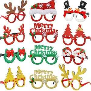 10pcs Christmas Ornament Glasses Universal for Adult Children Christmas Toys Santa Claus Snowman Antler Christmas Decoration Glasses