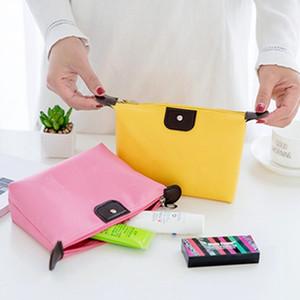 Wholesale Promotional Women Cosmetic Bags Multi-function Makeup Storage Organizer Ladies Handbag Nylon Outdoor Travel Wash Bag DH0399 T03