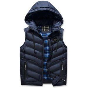 2021 chaud, épais hiver de gilets sans manches, vestes pour hommes dans un hotel chaud, gilet en cuir chaud, veste et veste. T5Z8