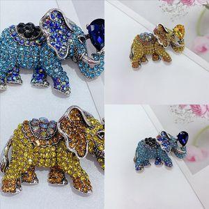 m8mpu gun black animal diamante lujoso pliegues elefante forma broche broche de plomo el traje afortunado del hombre hombre de la aguja de la aguja de la ropa de la ropa de los adornos pequeños y