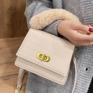 Pattern Plush Tote 2020 Fashion New High Crocodile Quality Pu Leather Women's Designer Handbag Lock Shoulder Messenger Bag