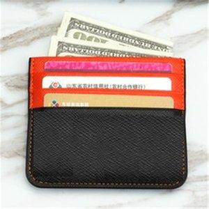 Cartão do desenhista Cartão Cartão Carteira De Couro Pequeno Olhos Pequenos Clip Bancos de Banco Mens Cartão Super Slim Wallet