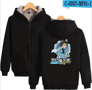 fashion Beyblade Burst Evolution Digital Printed Zipper Hoodies Men's Women's Cotton Jacket
