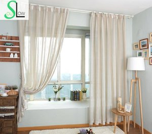 Modern Era American Country Style Color Woven Fabric With Netting French Window Curtain Pastoral Curtains Living Room Tulle1