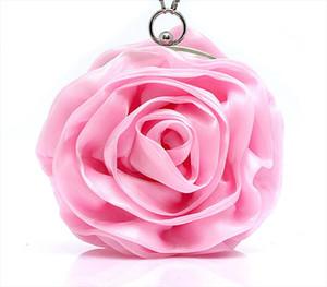 Purple Pink Red Ivory Gold Lovely Flower Rose Evening Bag Woman Clutch Handbag Bridal Wedding Bags Party Mini Bag SMYBK A001