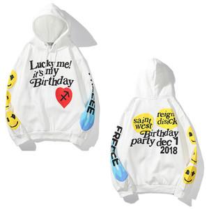 Hombres sudadera con capucha Jóvenes mujeres suéter de alta calidad de la chaqueta de algodón puro estilo de Hip Hop tendencia de la moda Boy suéter flojo delgado otoño Invierno