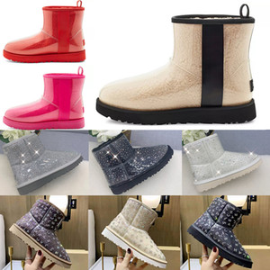 2021 Designer women australia australian boots women winter snow fur furry satin boot ankle booties fur leather outdoors shoes #59