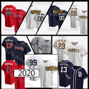 Yankees Jersey 99 Aaron Richter Padres 23 Fernando Tatis Jr. Braves 13 Ronald Acuna Derek Jeter Individuelle Gerrit Cole Freddie Freeman Baseball