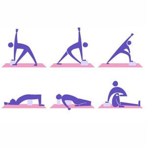 EVA Yoga blocco di schiuma mattone stretching aiuti di ginnastica Pilates Esercizio Fitness Shaping Formazione Salute sostegno di yoga antiscivolo Cuscini VT1896