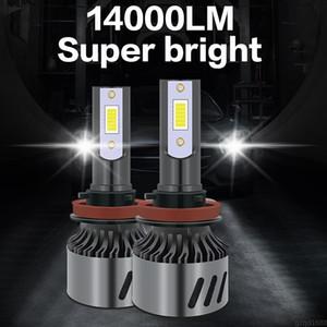 1 пара светодиодных автомобильных фар 14000LM Авто светодиодная фара H4 H1 H3 H7 H8 H9 H11 H16 9005 HB3 9006 HB4 3000K 4300K 6000K 8000K