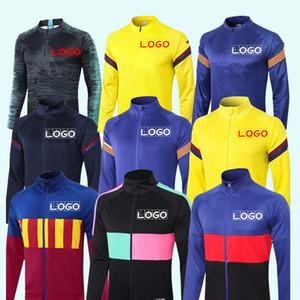 20 21 MESSI DEMBELE Full zip Jacket Suit Soccer Jerseys PIQUE SUAREZ Mens Tracksuit Kit Football Shirts RAKITIC GRIEZMANN training wear