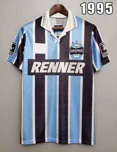 Gremio 1995 Retro Jersey di calcio Ronaldinho Zinho Nene Warley Porto Alegre Home Blu Black Vintage Vecchia Camicia da calcio classica