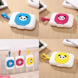 Baby мультфильм ткани коробки животных панды принты висит мокрый полотенце хранения коробки портативные влажные салфетки держатель перемещения 7hy e1
