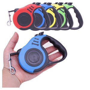 3 5M Durable Leash Automatic Retractable Nylon Cat Lead Extending Puppy Walking Running Lead Roulette For Dogs