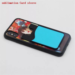 100pcs Blank Sublimation Card Sleeves Silicone Card Bag Credit ID Card Holder Pocket for iPhone 12 Samsung S20 Note 20 Plus