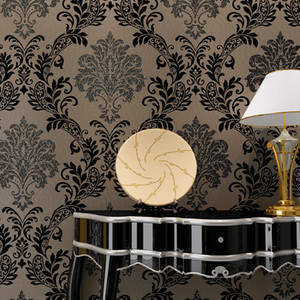 beibehang non-woven wallpaper European Damascus spilled gold 3D living room background wall papel de parede wall paper